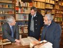 Il presidente Claudio Marazzini con Mario Calabresi e Sandro Bertuccelli